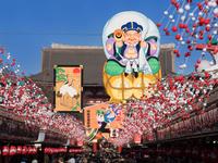 東京都 浅草仲見世の正月飾り