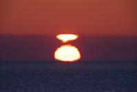北海道 日の出と海