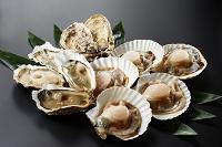 生牡蠣と生ホタテ