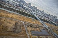 東京都 江東区 オリンピック施設建設予定地と東雲運河