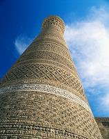 ウズベキスタン カラーン・モスク ミナレット