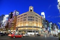 東京都 銀座 和光ビル 夜景