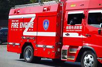 出動する消防車