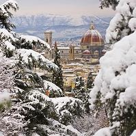 イタリア フィレンツェ 雪景色
