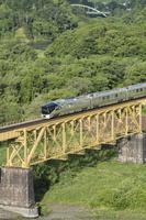 福島県 一ノ戸川橋梁とTRAIN SUITE 四季島