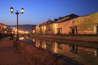 北海道 小樽運河の夜景