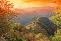 滋賀県 おにゅう峠の朝焼け