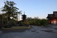 東寺 夜明け