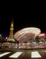 オアシス21 水の宇宙船と名古屋テレビ塔 夜景