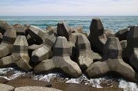 海岸の波消しブロック