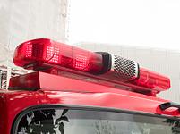 消防車の赤色回転灯