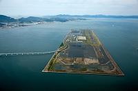 福岡県 新北九州空港と周防灘