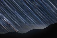 長野県 白馬三山と星の軌跡