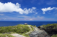 沖縄県 女瀬の崎展望台と女瀬ノ崎と渡名喜島 座間味島