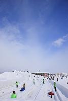 札幌雪まつり チューブ滑り台