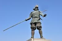 高知県 高知市 長宗我部元親初陣の像