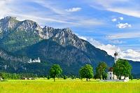 ドイツ ノイシュバンシュタイン城と聖コルマン教会
