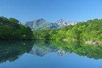 福島県 新緑の五色沼と磐梯山