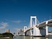 東京都 東京港とレインボーブリッジ