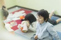 幼児教室の日本人の子供