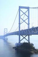 徳島県 千畳敷展望台から見る大鳴門橋と鳴門海峡