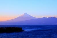 静岡県 沼津市 大瀬崎と富士山 夕景