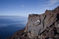 静岡県 富士山 富士宮ルート 溶岩石 矢印