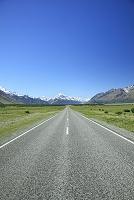 ニュージーランド 道とマウントクック