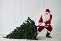 クリスマスツリーを持つサンタクロース
