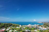 神奈川県 逗子マリーナ 相模湾と富士山