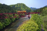 秋田県 阿仁川と秋田内陸縦貫鉄道