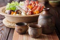 日本酒と蟹鍋
