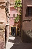 モロッコ マラケシュ カスバ地区の裏通り