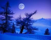 オーストリア 雪山