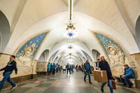 ロシア モスクワ 地下鉄駅