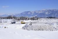豪雪地の雪捨て場