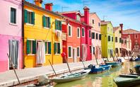 イタリア カラフルな家