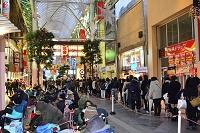 仙台初売り風景