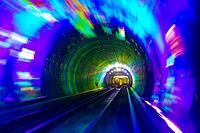中国 上海 外灘観光トンネル 外灘観光隧道
