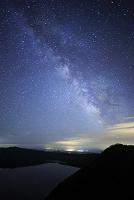 北海道 天の川と摩周湖