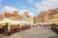 ポーランド ワルシャワ 旧市街市場広場