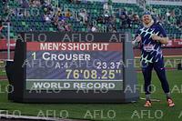 陸上:男子砲丸投げで31年ぶりに世界新記録