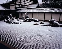 京都府 東福寺 方丈庭園 雪の石庭
