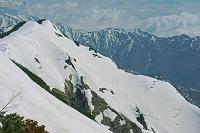 長野県 爺ケ岳の雪稜