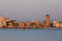 旧市街と地中海 朝 ティール レバノン