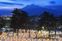 青森県 岩木山とミニかまくら
