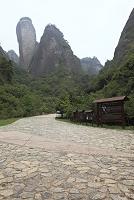 中国 湖南省 新寧 ?山 辣椒峰景区 案内板と辣椒峰