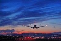 大阪府 伊丹空港 着陸する飛行機