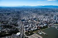 横浜山下公園周辺より横浜市街地の街並み