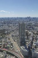 東京都 サンシャイン60より望む豊島区役所新庁舎ビルと新宿方面